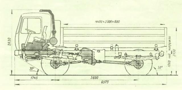 Технические характеристики КАЗ-4540