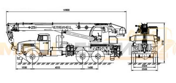 Технические характеристики КС 45721