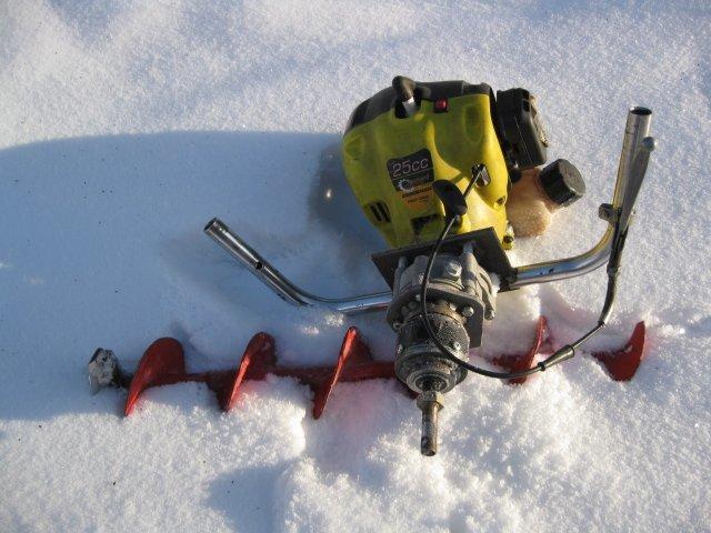 Самодельный мотобур для рыбалки