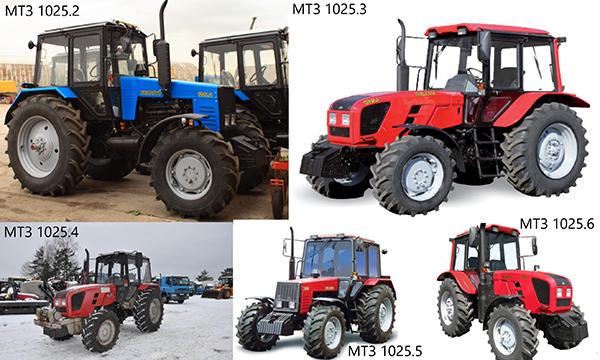 Технические характеристики МТЗ-1025