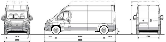 Фиат Дукато: длина кузова, размеры и грузоподъемность