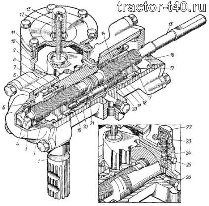 Гур трактора Т 40: разборка, сборка, ремонт своими руками