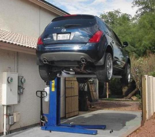 Как сделать подъемник в гараже своими руками