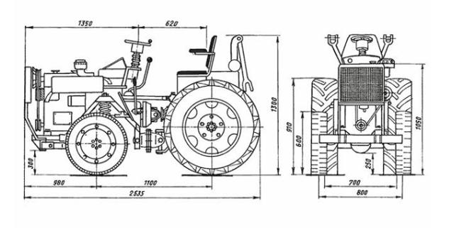 Самодельный трактор из жигулей