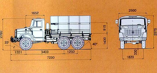 Технические характеристики ЗИЛ-4334