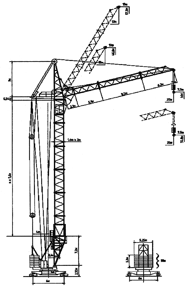 Башенный кран КБ 405