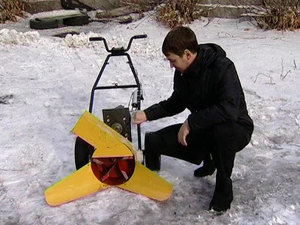 Снегоуборщик для мотоблока своими руками