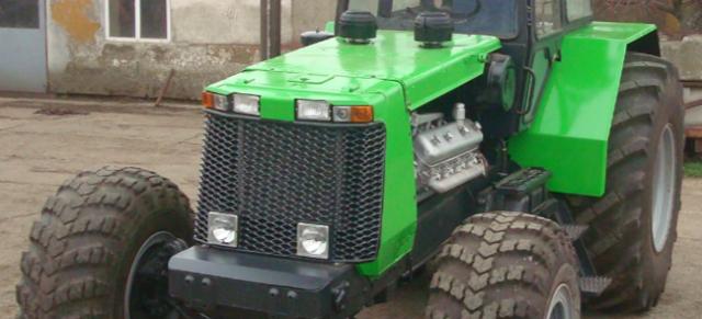 Самодельный трактор Бизон в работе