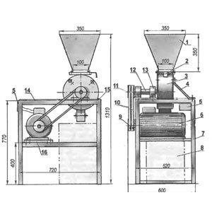 Дробилка Шмель: устройство, чертежи