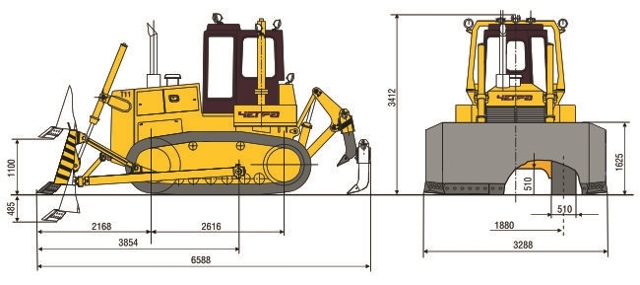 Технические характеристики бульдозера Четра т11