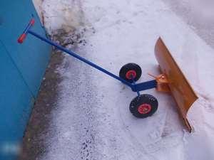 Как сделать скребок для уборки снега